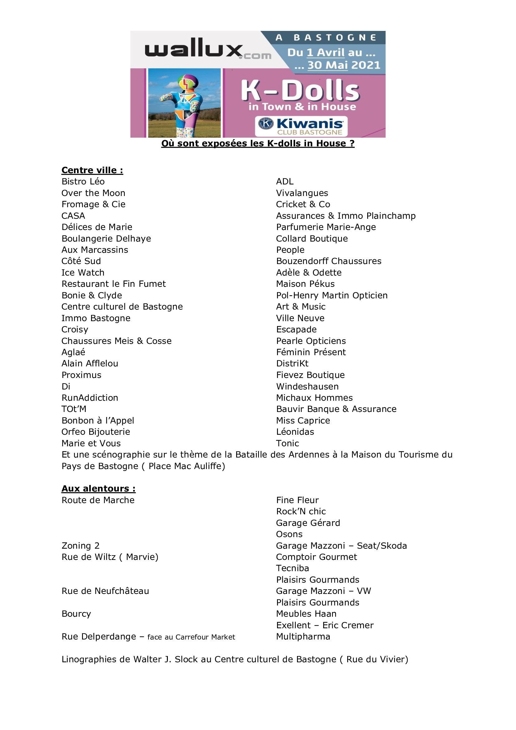 Liste Commerçants Poupées